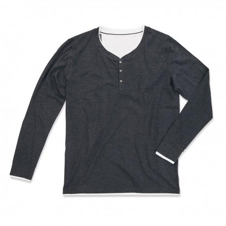 T-Shirt ST9860 STEDMAN Uomo LUKE LONG SLEEVE H. 60%C-40%P