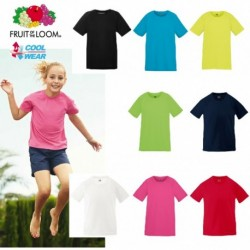T-SHIRT FRUIT BAMBINO MANICA CORTA FR610130 PERFORMANCE KIDS 100%POLIESTERE