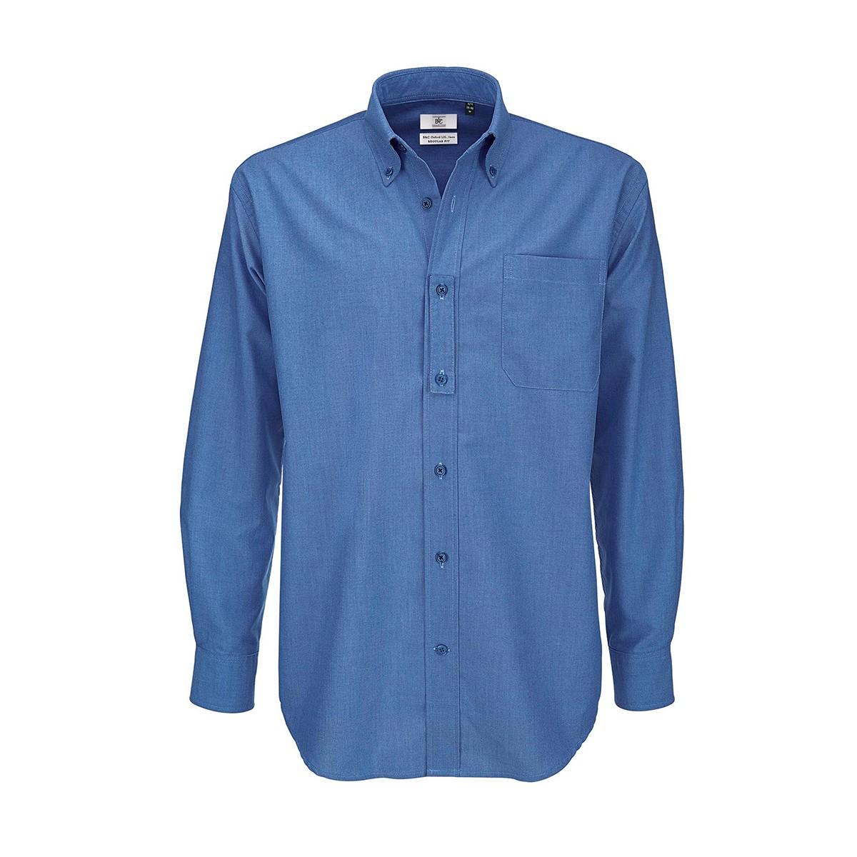 c474096fe2fa Camicia B&C Uomo Oxford BCSMO01 70% COTONE