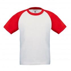 T-Shirt Bambino B&C BCTK350 BASEBALL KIDS 100% COTONE 185 g/m2