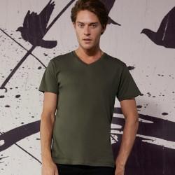 T-Shirt Uomo B&C BCTM044 Favourite V-neck Tee 100% BIO