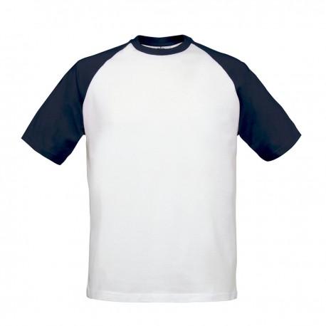 T-Shirt B&C Uomo BCTU020 Unisex BC BASE-BALL 100% COTONE.185G.M/C.