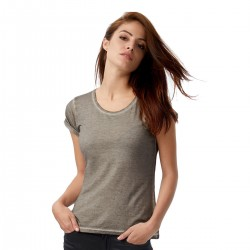 T-Shirt Donna B&C BCTWD71 DENIM PLUG IN WOMEN 100% COTONE