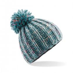Cuffia BEECHFIELD B484 D Unisex cappello Aurora Pom Pom Beanie 100% acrilico