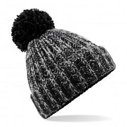 Cuffia BEECHFIELD B485 D Unisex Twist-Knit PomPom Beanie 100% acrilico