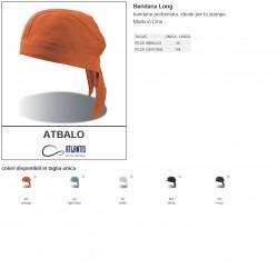 Bandana ATLANTIS ATBALO Unisex U BANDANA LONG 100% cotone ideale per la stampa