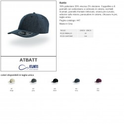 Cappello ATLANTIS ATBATT Unisex D Battle