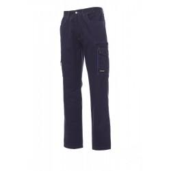 Pantalone TEXAS PAYPER multitasche con dettagli a contrasto cotone twill 250gr