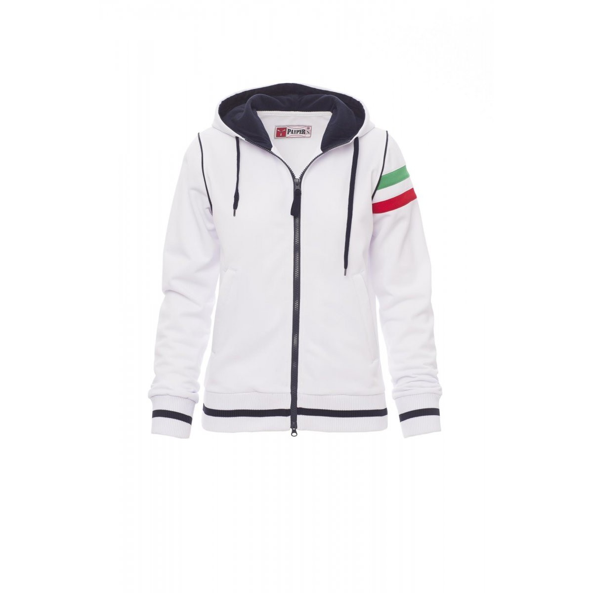 reputable site 2f822 fe670 Felpa kansas PAYPER donna tricolore giromanica full zip con ...