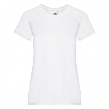 T-SHIRT FRUIT DONNA MANICA CORTA FR613920 PERFORMANCE LADY 100% POLIESTERE