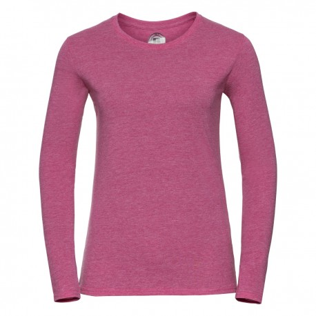 T-SHIRT RUSSELL LADY HD T DONNA MISTO COTONE JE167F MANICHE LUNGHE