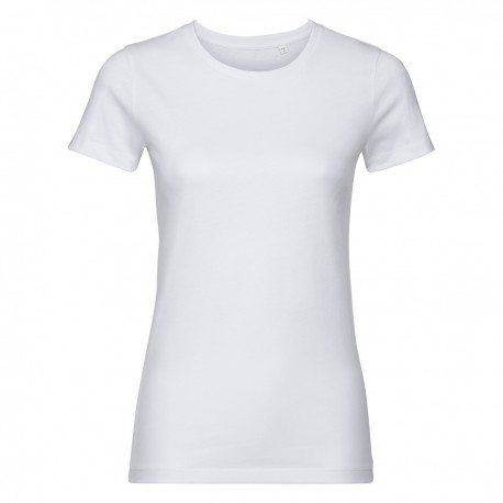 T-shirt donna JE108F RUSSELL cuciture laterali sagomata