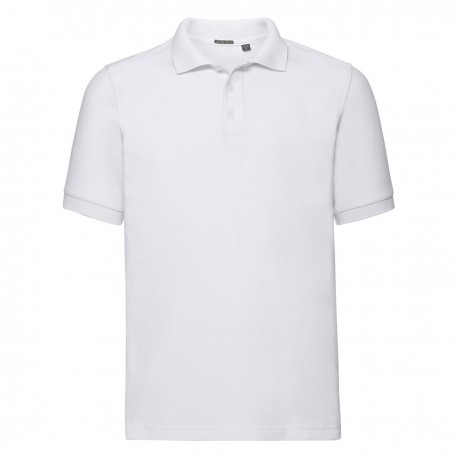 Polo uomo JE567M RUSSELL EUROPE nido d'ape polsini a coste 205g/m2