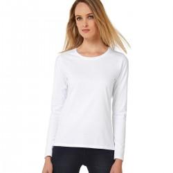 T-shirt BCTW08T B&C donna manica lunga tessuto resistente 185g/m2