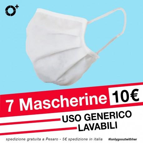 7 MASCHERINE in TNT PROMO COLLETTIVITÀ - Made in Italy ad uso libero
