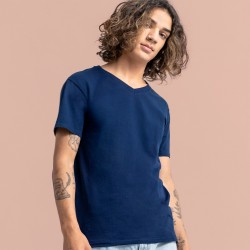 T-Shirt FRUIT OF THE LOOM FR614420 Uomo ICONIC 150 V-NECK T 100%COT Manica corta,Setin