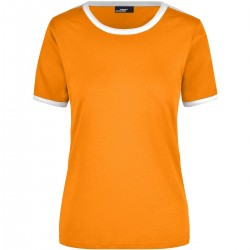 T-Shirt JAMES & NICHOLSON JN018 Donna LADIES' FLAG-T 100%C J&N Manica corta,Setin
