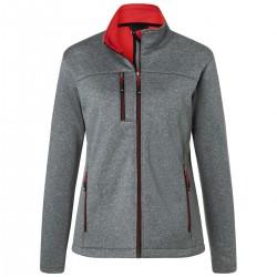 Soft shell JAMES & NICHOLSON JN1147 Donna Ladies' Softshell Jacket 100%P Manica lunga