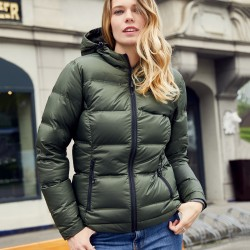 Giacca JAMES & NICHOLSON JN1151 Donna Ladies' Hood Down Jacket100%P Manica lunga