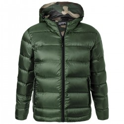 Giacca JAMES & NICHOLSON JN1152 Uomo Men's Hood Down Jacket 100%P Manica lunga