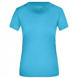 T-Shirt JAMES & NICHOLSON JN357 Donna LADIES ACTIVE-T 100%P J&N Manica corta,Setin