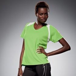 T-Shirt JAMES & NICHOLSON JN396 Donna LADIES RUNNING-T M/C 100%P Manica corta,Raglan
