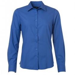 Camicia JAMES & NICHOLSON JN677 Donna W Shirt LS Poplin 65%P 35%C Manica lunga