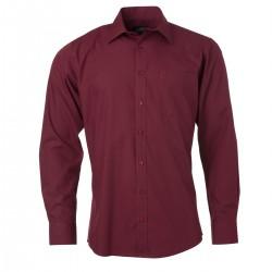 Camicia JAMES & NICHOLSON JN678 Uomo M Shirt LS Poplin 65%P 35%C Manica lunga