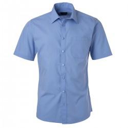 Camicia JAMES & NICHOLSON JN680 Uomo M Shirt SS Popline 65%P 35%C Manica corta