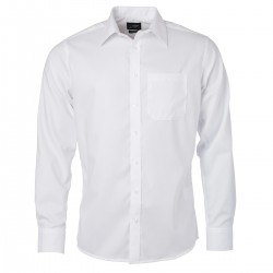Camicia JAMES & NICHOLSON JN682 Uomo M Shirt LS Micro Twill 100%C Manica lunga