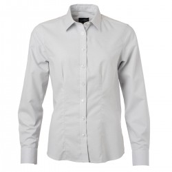 Camicia JAMES & NICHOLSON JN685 Donna W Shirt LS Oxford 70%C 30%P Manica lunga
