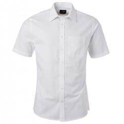 Camicia JAMES & NICHOLSON JN688 Uomo M Shirt SL Oxford 70%C 30%P Manica corta