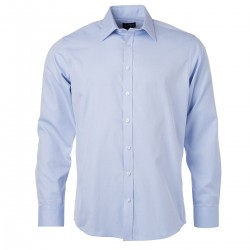 Camicia JAMES & NICHOLSON JN690 Uomo M Shirt LS Heringbone 84%C16%P Manica lunga