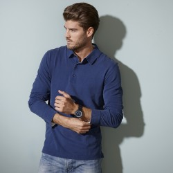 Polo JAMES & NICHOLSON JN714 Uomo Men's polo LS 100%C Manica lunga