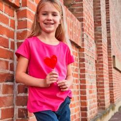 T-Shirt JAMES & NICHOLSON JN744 Bambino Basic-T Girl 150 100%OCS Manica corta,Setin