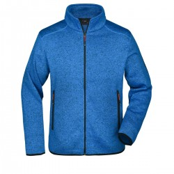 Pile JAMES & NICHOLSON JN762 Uomo M Knitted Fleece Jacket 100%P