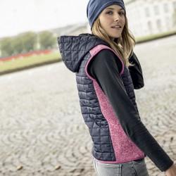 Giacca JAMES & NICHOLSON JN767 Donna Ladies' Knitted Hybrid Vest 10 Senza maniche