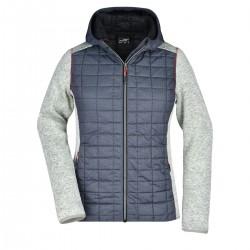 Giacca JAMES & NICHOLSON JN771 Donna W Knitted Hybrid Jacket 100%P Manica lunga