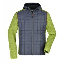Giacca JAMES & NICHOLSON JN772 Uomo M Knitted Hybrid Jacket 100%P Manica lunga