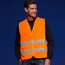 Giacca JAMES & NICHOLSON JN815 Unisex,Uomo SAFETY VEST ADULTS 100%P Senza maniche