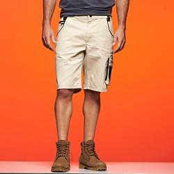 Pantaloni JAMES & NICHOLSON JN835 Uomo WORKWEAR BERMUDA 65%P 35%C