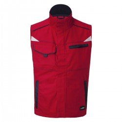 Giacca JAMES & NICHOLSON JN850 Unisex Workwear Vest-Level 2 100%P Senza maniche