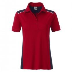 Polo JAMES & NICHOLSON JN857 Donna W Workwear Polo L2 50%C 50%P Manica corta