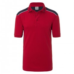 Polo JAMES & NICHOLSON JN858 Uomo M Workwear Polo L2 50%C 50%P Manica corta