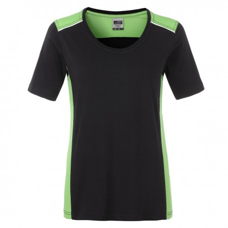 T-Shirt JAMES & NICHOLSON JN859 Donna W Workwear T Level 2 50%C 50%P Manica corta,Setin