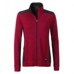 Pile JAMES & NICHOLSON JN861 Donna W Knitted Work Fleece J 100%P Manica lunga