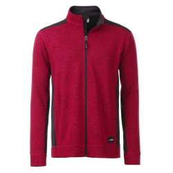Pile JAMES & NICHOLSON JN862 Uomo Men's Workwear Jacket 100%P Manica lunga