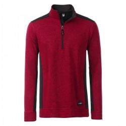 Pile JAMES & NICHOLSON JN864 Uomo M Knitted Work Fleece HZ 100%P Manica lunga