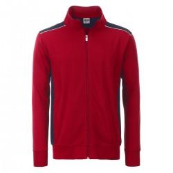 Felpa JAMES & NICHOLSON JN870 Uomo M Workwear SweatJacket70%C30%P Manica lunga,Setin