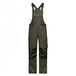 Pantaloni JAMES & NICHOLSON JN879 Workwear Pants Bib 65%P 35%C